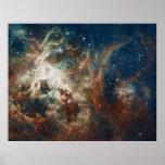 Star Birth in 30 Doradus Tarantula Nebula NGC 2070 Print