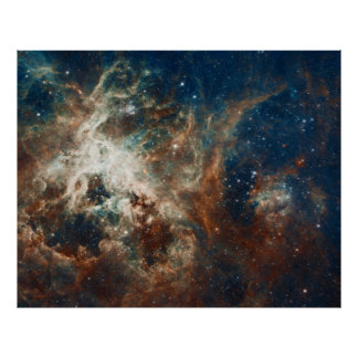 Star Birth in 30 Doradus Tarantula Nebula NGC 2070 Poster