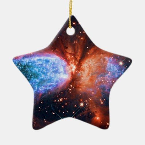 Star Birth in Constellation Cygnus, The Swan Ceramic Ornament