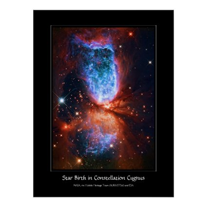 Star Birth in Constellation Cygnus, The Swan Posters