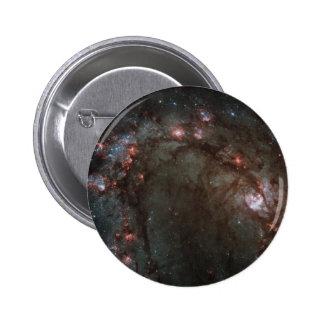 Star birth in Messier 83 Pinback Button