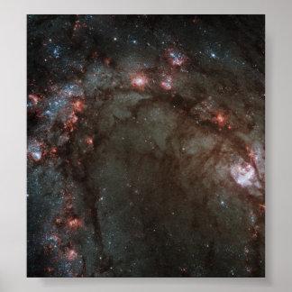 Star birth in Messier 83 Poster