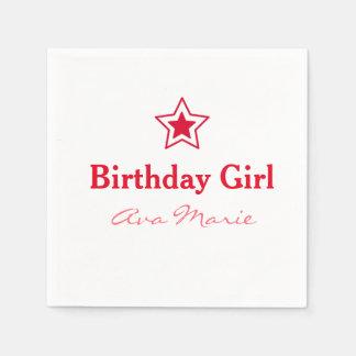 Star Birthday Girl Party Paper Napkin