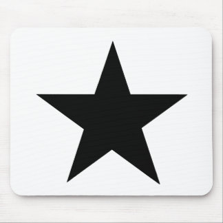 Star Black The MUSEUM Zazzle Gifts Mouse Pad