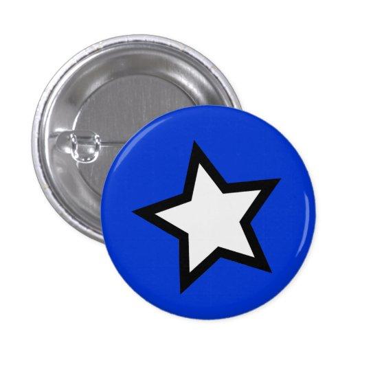 Star - Bold B&W Pinback Button