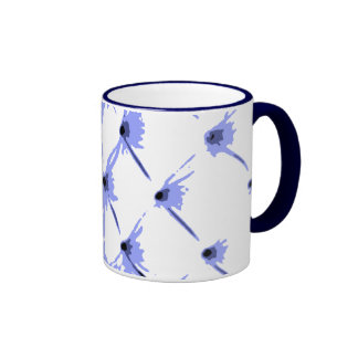 Star Bright Blue Ringer Coffee Mug by Janz