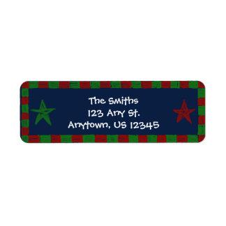 Star Bright Christmas Return Address Label