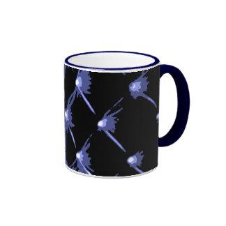 Star Bright Navy Blue Ringer Coffee Mug by Janz