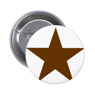 Star Brown The MUSEUM Zazzle Gifts Pinback Button