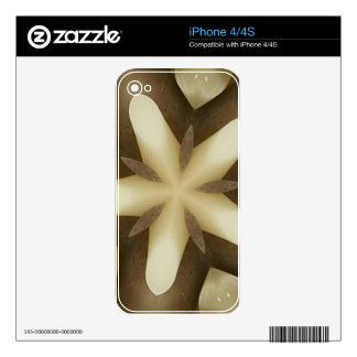 Star Brown White Rustic Design Colors Skin For iPhone 4S