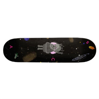 Star Bubbles and Hiccups Skateboard