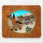 Star Bucky the Rodeo Horse Mousepad