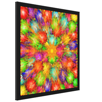Star Burst Stretched Canvas Prints