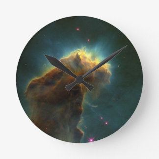 Star Burst Cloud Round Wallclock