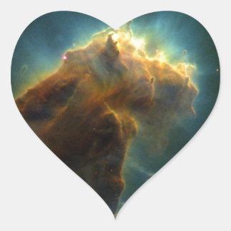 Star Burst Cloud Heart Sticker