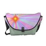 """Star Burst"" Design Rickshaw Messenger Bag"