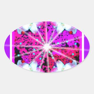 Star Burst Fantasy Design by Sharles Oval Sticker
