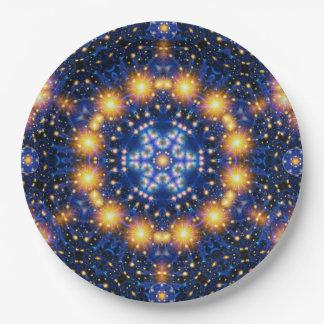 Star Burst Mandala Paper Plate