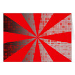 Star Burst Mosaic Red Abstract Blank Card