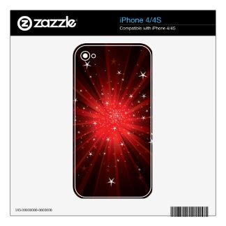 Star Burst - Red Skin Para El iPhone 4S