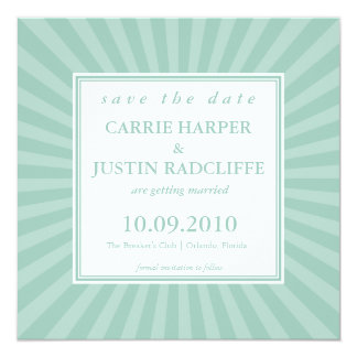 Star Burst Save the Date Announcement
