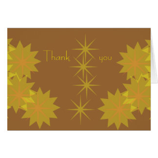 Star Burst Thank You Card
