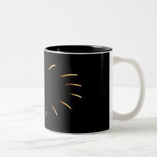 Star burst Two-Tone coffee mug