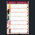 "Star Burst Weekly Schedule Dry Erase Board<br><div class=""desc"">Star Burst weekly schedule / chore list dry erase board by WRKDesigns.</div>"