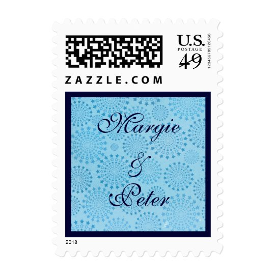 Star Bursts Anniversary or Wedding US Stamp