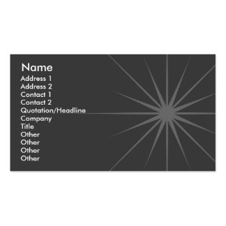 Star - Business Double-Sided Standard Business Cards (Pack Of 100)