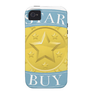 Star buy gold and blue award medal iPhone 4 case