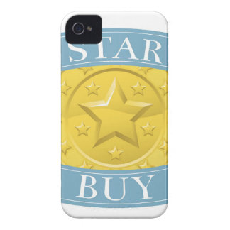 Star buy gold and blue award medal iPhone 4 Case-Mate case