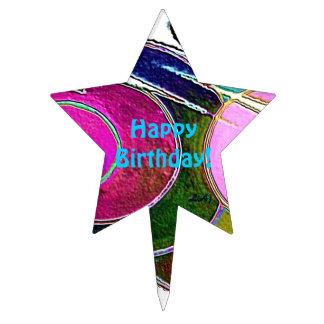 Star Cake Pick Frigg  Happy Birthday