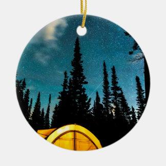 Star Camping Ceramic Ornament