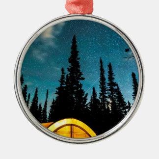 Star Camping Metal Ornament