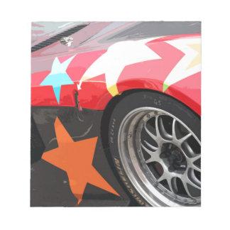 STAR CAR NOTEPAD