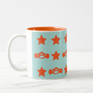 Star car Two-Tone coffee mug