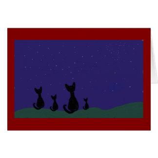 Star Cat Greeting Card