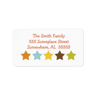 Star Celebrations Address Label in Earth Tones