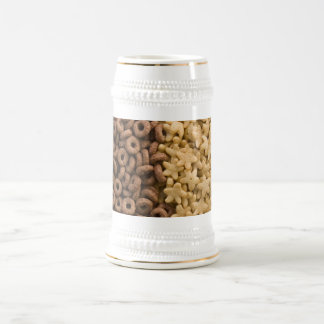 Star cereals with chocolate rings beer stein