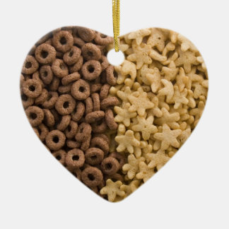 Star cereals with chocolate rings ceramic ornament