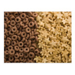 Star cereals with chocolate rings postcard