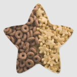 Star cereals with chocolate rings star sticker