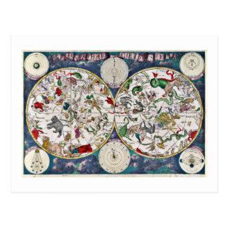 Star chart postcard