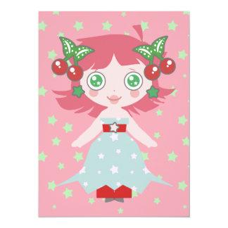 Star Cherry Girl Card