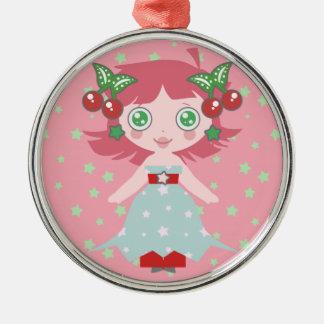 Star Cherry Girl Ornaments