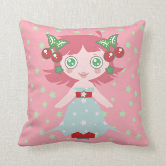 Star Cherry Girl Pillows