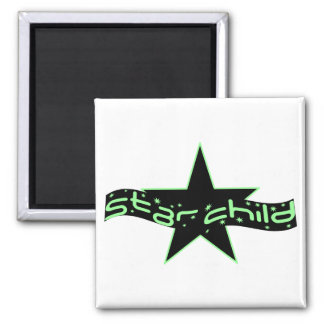 Star Child 2 Inch Square Magnet