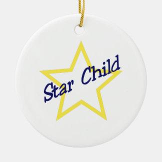 Star Child Ceramic Ornament