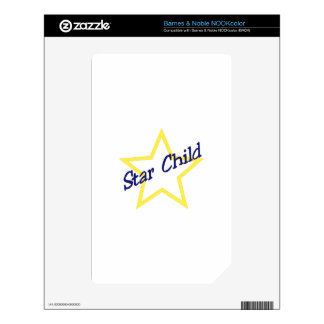 Star Child Decal For NOOK Color